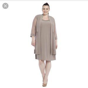 Tan dress with cardigan two piece set never worn